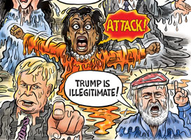 Ben Garrison meltdown cartoon