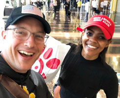 Benny Johnson and Candace Owens
