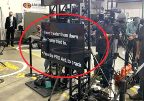 Biden teleprompter in Minnesota