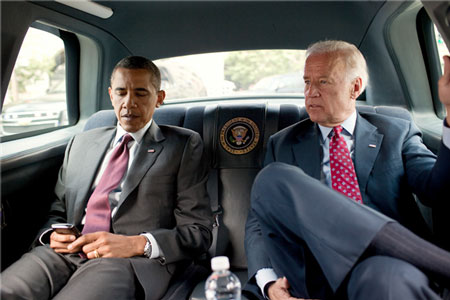 Obama and Biden don't use seatbelts