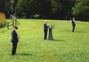 Biden out standing in his field