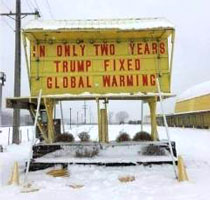 Trump fixed global warming!