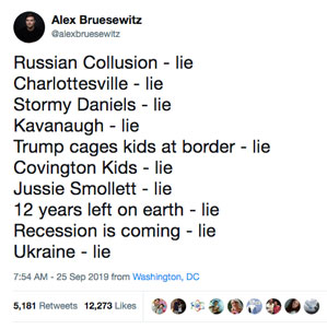List of lies