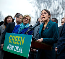 AOC pushes the Green New Deal
