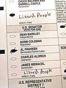 This ballot counted for Al Franken