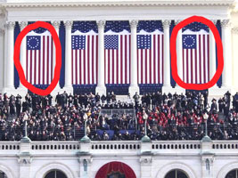 Obama flies the Betsy Ross flag