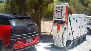 Diesel powered electric car charger