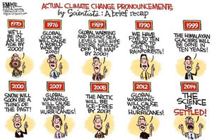 Failed climate predictions