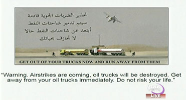ISIS-friendly advance warning leaflet