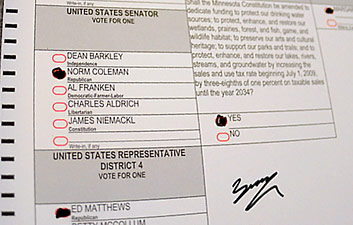 Al Franken also challenged this ballot