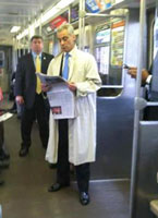 Rahm takes the train