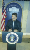 Seddiq Mateen at the White House