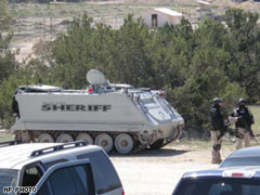 SWAT tank: Associated Press Photograph