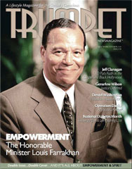 Farrakhan on the cover of Trumpet